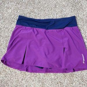 Brooks Fitness Tennis Running Skirt Purple Navy